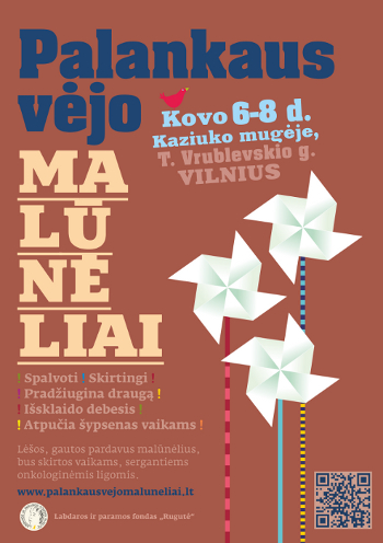 """2015 m. """"Palankaus vėjo malūnėlių"""" plakatas, Vilnius"""